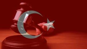 Animación de Digitaces de la bandera de Turquía