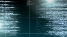 Animación de Digitaces de la codificación del ordenador almacen de metraje de vídeo