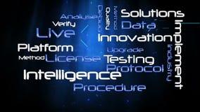Animación de diversos términos de la tecnología