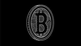 Animación de giro del dibujo de Bitcoin 2.a metrajes