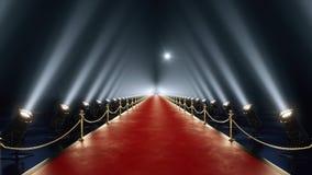 Animación de la alfombra roja del lazo stock de ilustración