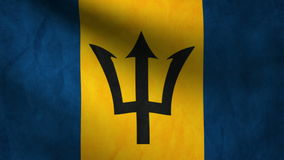 Animación de la bandera de Barbados en el viento stock de ilustración