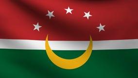 Animación de la bandera de Maghreb en el viento stock de ilustración