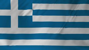 Animación de la bandera de Grecia 2 en 1 almacen de video