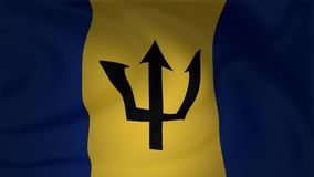 Animación de la bandera de las Barbados ilustración del vector