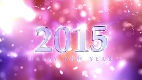Animación 2015 de la cuenta descendiente del Año Nuevo ilustración del vector