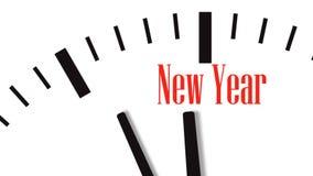 Animación de la cuenta descendiente del reloj al Año Nuevo almacen de video