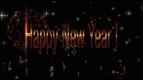 Animación de la Feliz Año Nuevo almacen de metraje de vídeo