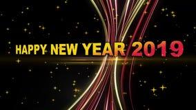 Animación 2019 de la Feliz Año Nuevo stock de ilustración