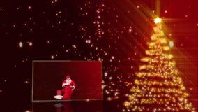 Animación de la Feliz Navidad almacen de metraje de vídeo