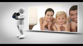 Animación de la fotografía de la familia almacen de video