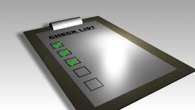 animación de la lista de verificación 3D libre illustration