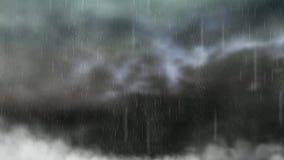 Animación de la lluvia stock de ilustración