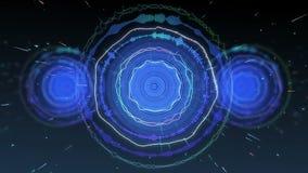 Animación de la música del círculo con el movimiento inconsútil de la partícula del lazo ilustración del vector