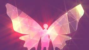 Animación de la mariposa de la mujer libre illustration