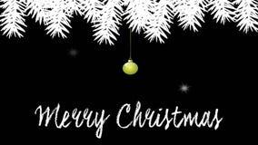 Animación de la Navidad con las bolas coloreadas almacen de video