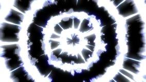 Animación de la nube del vapor Animación blanca del humo de la historieta, fondo del lazo de la niebla, almacen de metraje de vídeo