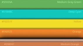 Animación de la paleta de colores Código de color almacen de metraje de vídeo