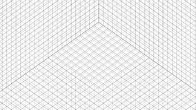 Animación de la rejilla de la estructura en el fondo blanco almacen de video