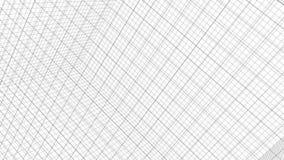 Animación de la rejilla de la estructura en el fondo blanco metrajes