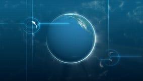 Animación de la tierra de giro del planeta en el fondo blanco HD, fondo, movimiento ilustración del vector