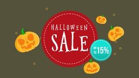 Animación de la venta de Halloween hasta 15 stock de ilustración