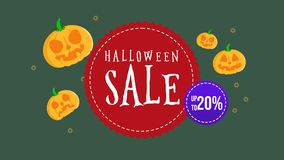 Animación de la venta de Halloween hasta 20 stock de ilustración