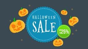 Animación de la venta de Halloween hasta 25 ilustración del vector