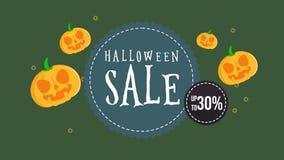 Animación de la venta de Halloween hasta 30 ilustración del vector
