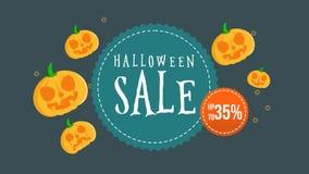 Animación de la venta de Halloween hasta 35 ilustración del vector