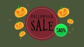 Animación de la venta de Halloween hasta 40 ilustración del vector