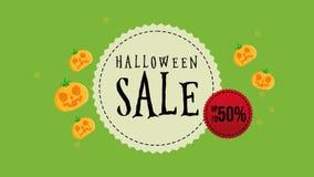 Animación de la venta de Halloween hasta 50 libre illustration