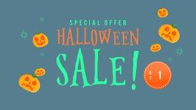 Animación de la venta de Halloween de la oferta especial hasta 15 ilustración del vector