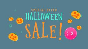 Animación de la venta de Halloween de la oferta especial hasta 20 stock de ilustración