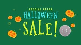 Animación de la venta de Halloween de la oferta especial hasta 25 stock de ilustración