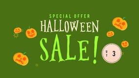 Animación de la venta de Halloween de la oferta especial hasta 30 stock de ilustración