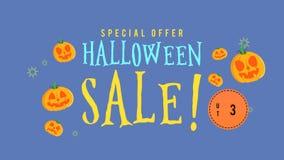 Animación de la venta de Halloween de la oferta especial hasta 35 stock de ilustración