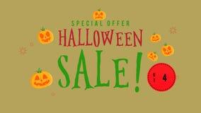 Animación de la venta de Halloween de la oferta especial hasta 40 ilustración del vector
