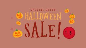 Animación de la venta de Halloween de la oferta especial hasta 50 libre illustration