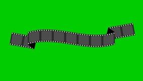 Animación de las banderas de la tira de la película stock de ilustración