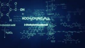 animación de las fórmulas químicas 3D stock de ilustración