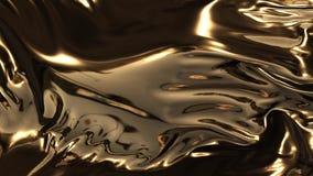 Animación de las ondas del oro ilustración del vector