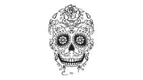 Animación de los elementos del cráneo del azúcar Foto de archivo libre de regalías