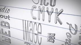 Animación de los términos del diseño gráfico libre illustration
