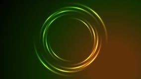 Animación de neón brillante del vídeo del remolino del círculo que brilla intensamente