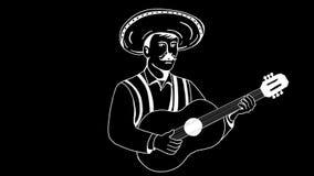 Animación de Play Guitar del guitarrista mexicano del Mariachi 2.a metrajes