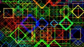 Animación de rectángulos que brillan intensamente multicolores libre illustration