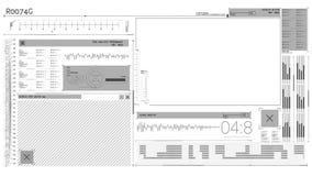 Animación de un interfaz de la tecnología libre illustration