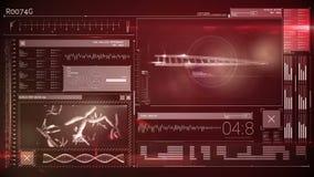 Animación de un interfaz de la tecnología ilustración del vector