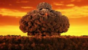Animación de una versión nuclear 2 de la ráfaga ilustración del vector